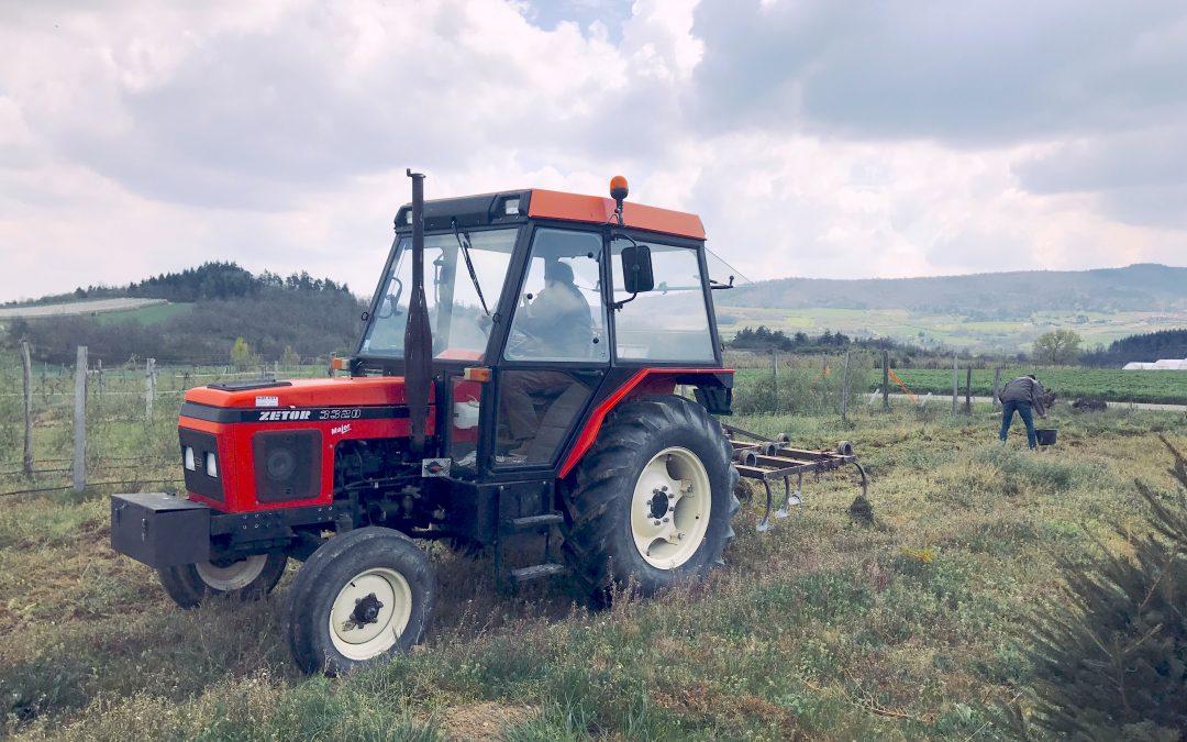 Un joli tracteur rouge…